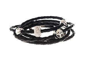 bracelet-simili-cuir-noir-Swarovski-Da-Vinci-félicia-2-kara-bijoux-1