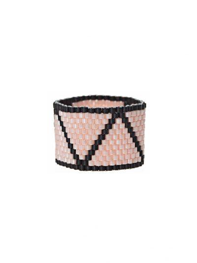 bague-tissee-peyote-jonc-large-rose-pale-noir-flora-2-kara-bijoux
