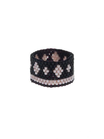 bague-tissee-peyote-jonc-large-noir-rose-pale-flora-3-kara-bijoux