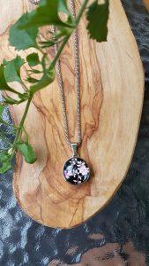 Collier-inox-snap-fleuri-kara-bijoux