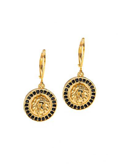 boucles-oreilles-inox-or-tete-de-lion-entrepreneure-classique-urbain-sarah-c-2-kara-bijoux