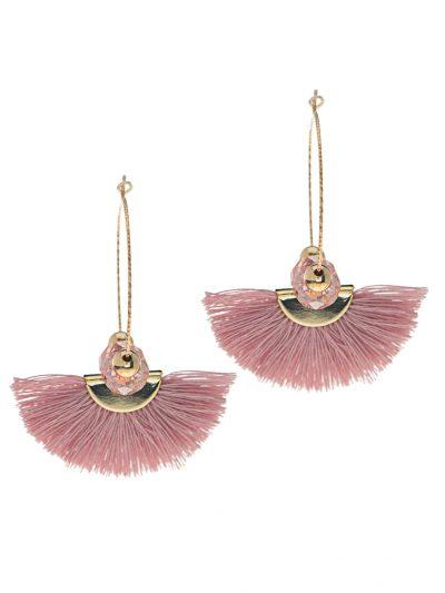 boucles-oreilles-or-14k-anneaux-sparkle-pompon-rose-entrepreneure-nomade-5-boho-chic-kara-bijoux-1
