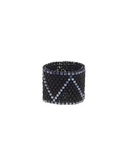 bague-jonc-large-tisse-peyote-noir-argent-malor-2-entrepreneure-kara-bijoux