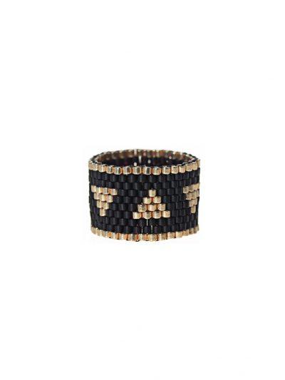 bague-jonc-large-tissee-peyote-noir-dore-entrepreneure-malor-1-kara-bijoux