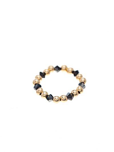 bague-elastique-fine-billes-or-14k-swarovski-noir-entrepreneure-signe-kara-kara-bijoux