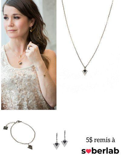 Collier + bracelet + boucles inox - coup de coeur Ellie