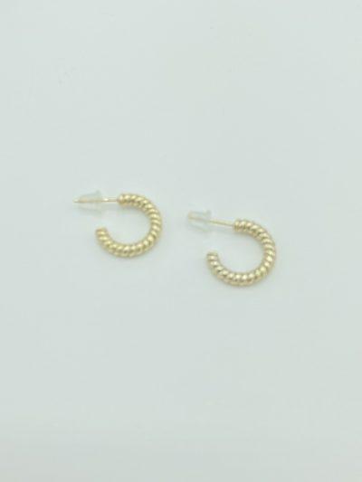Boucles d'oreilles anneaux ouverts torsadés