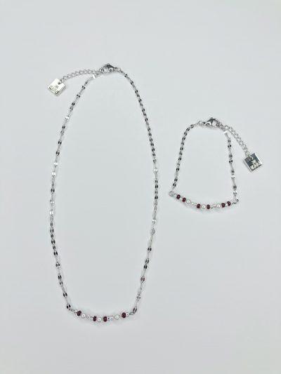 Collier et bracelet délicats hypoallergéniques avec perles
